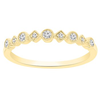 1/8ct tw Diamond Stackable Ring in 18K Yellow Gold