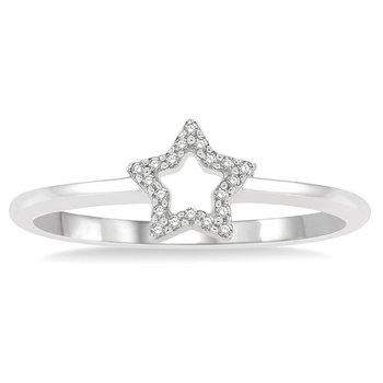 1/14ct tw Diamond Star Ring in 10K White Gold