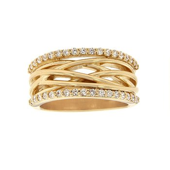 3/8ct tw Diamond Fashion Ring in 14K Yellow Gold