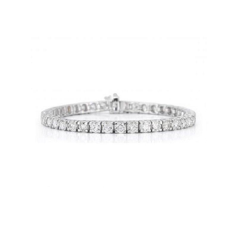 5ct tw Diamond Tennis Bracelet in 14K White Gold