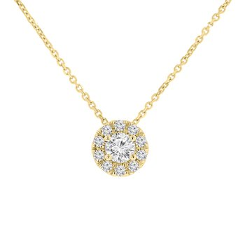 1/2ct tw NewBorn Lab Created Diamond Simply Love Collection Pendant in 14K Yellow Gold