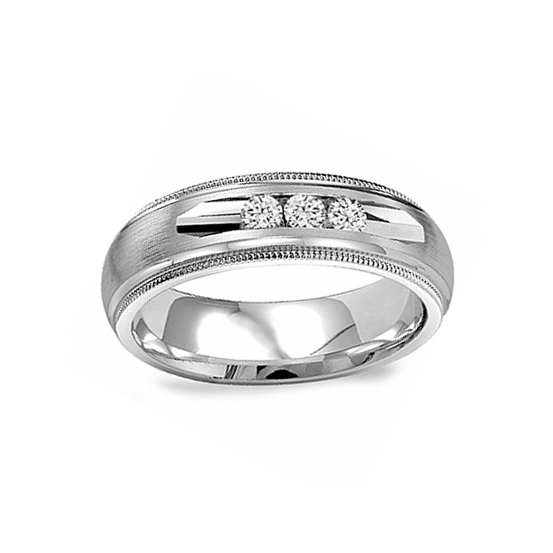 1/5ct tw Diamon Wedding Ring in 14K White Gold