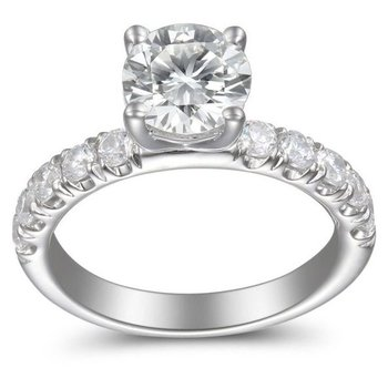 2 7/8ct tw Diamond Engagement Ring in 14K White Gold