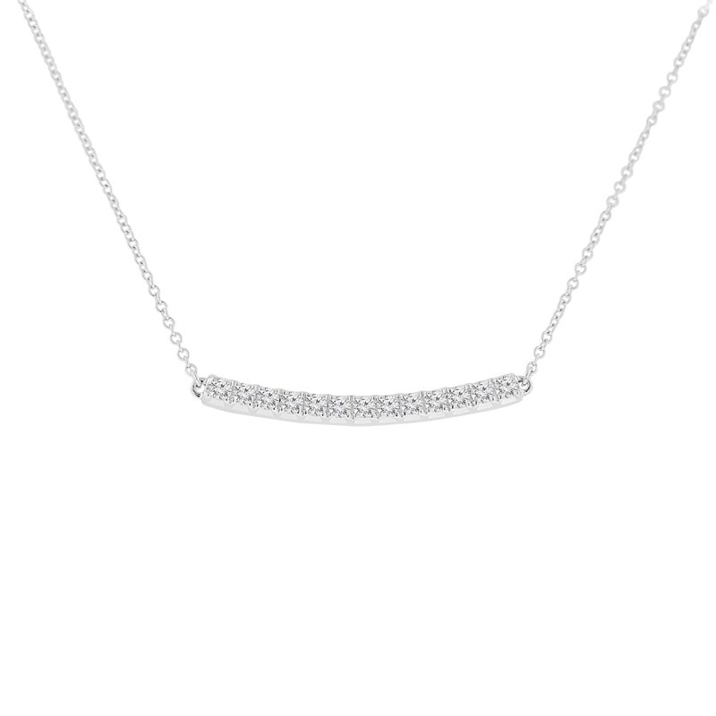 1/2ct tw NewBorn Lab Created Diamond Bar Necklace in 14K White Gold