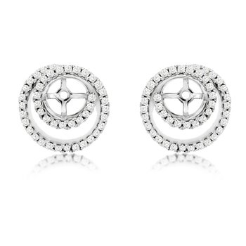 1/3ct tw Diamond Earring Jackets in 14K White Gold