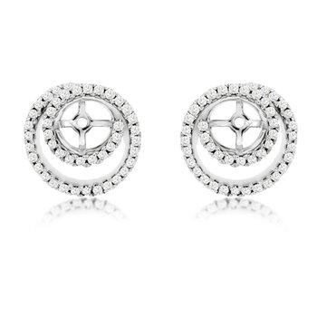 1/3ct tw Diamond Earring Jackets in 14K White Gold