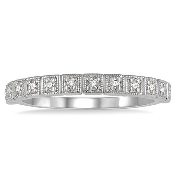 1/10ct tw Diamond Stackable Ring in 14K White Gold