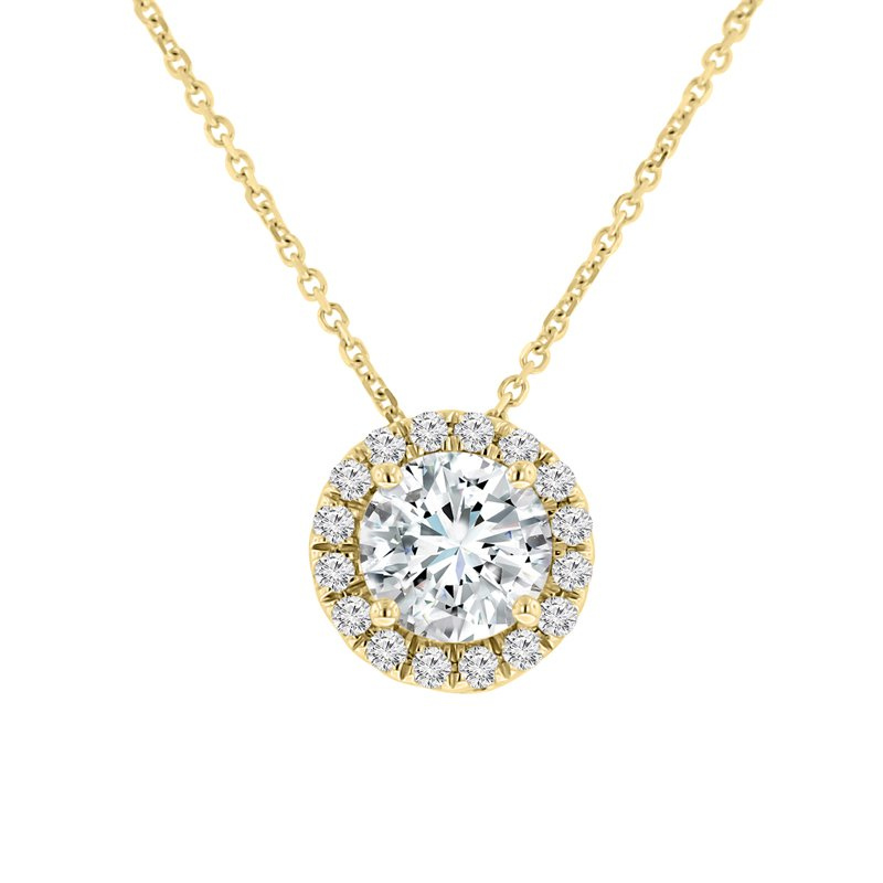 1 3/4ct tw NewBorn Lab Created Diamond Simply Love Collection Pendant in 14K Yellow Gold