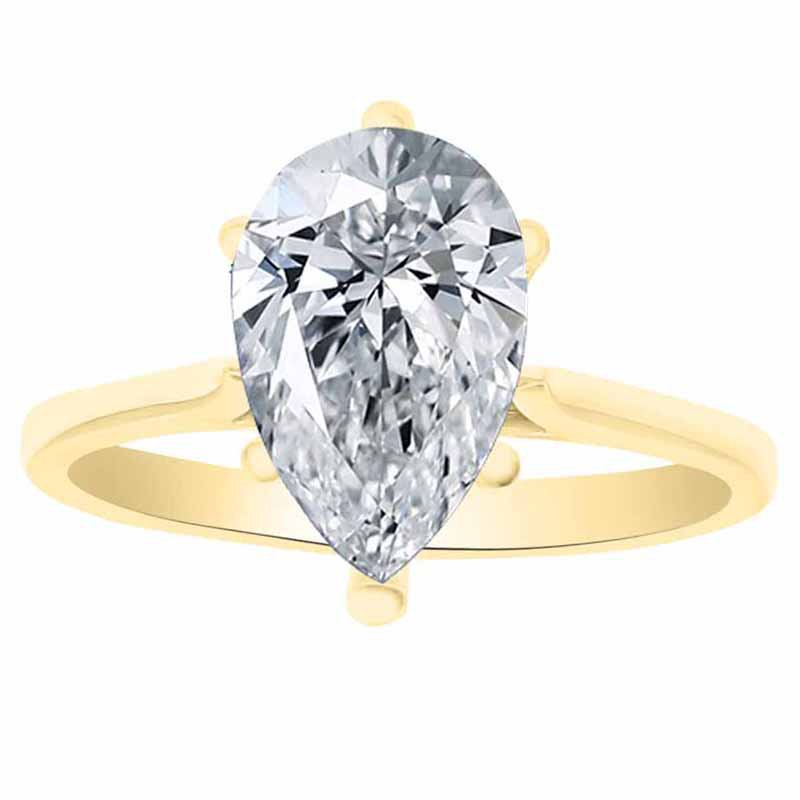 Solitiare Engagement Ring Setting in 14K White & Yellow Gold