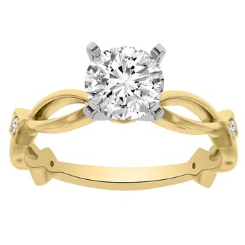 .05ct tw Diamond Engagement Ring Setting in 14K White Gold