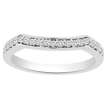 1/5ct tw Diamond Wedding Ring in 18K White Gold