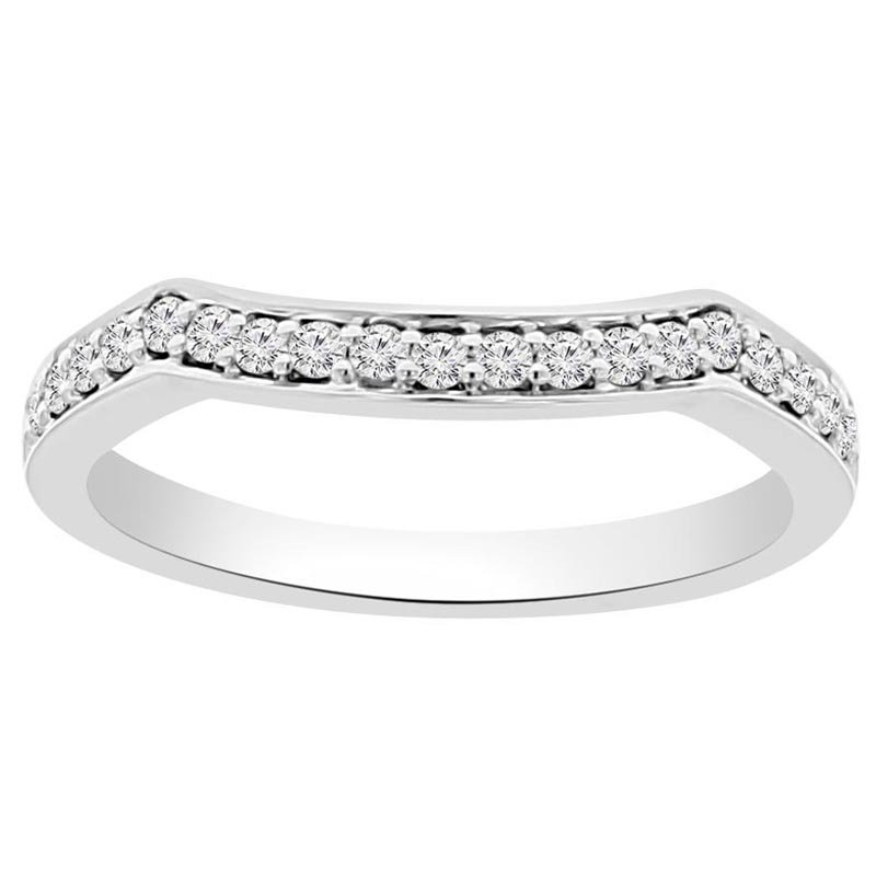1/5ct tw Diamond Wedding Ring in 18K White Gold