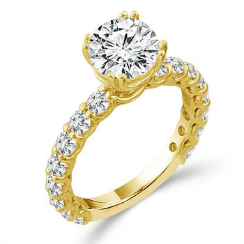 2 1/4ct tw NewBorn Lab Created Diamond Engagement Ring in 14K Yellow Gold