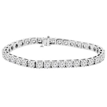 13 1/3ct tw NewBorn Lab Created Diamond Tennis Bracelet in 14K White Gold