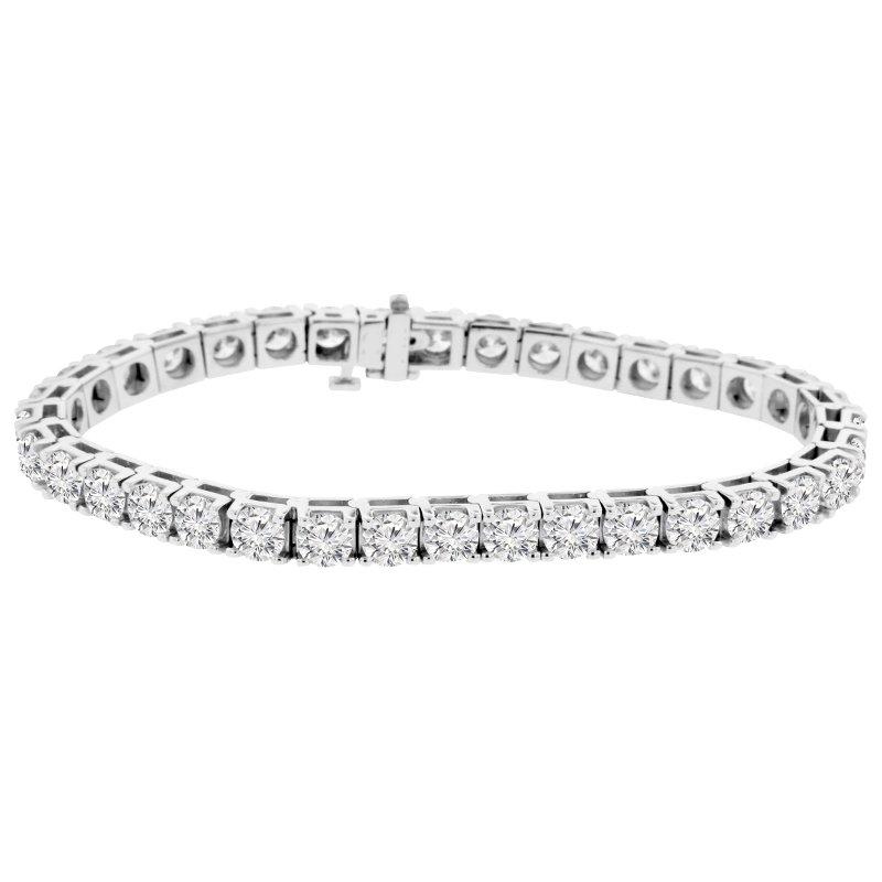 13 1/3ct tw NewBorn Lab Created Diamond Tennis Bracelet in 14K White Gold