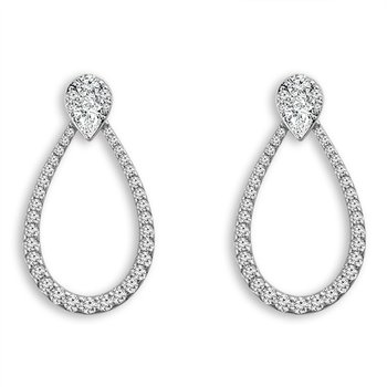1/2ct tw Diamond Earring Jackets in 14K White Gold