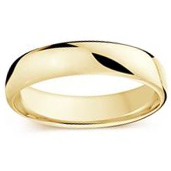 5.5mm Wedding Ring in 14K Yellow Gold
