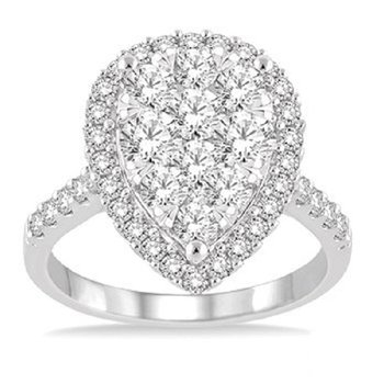 2ct tw Diamond Thousand Points of Light Engagement Ring in 14K White Gold