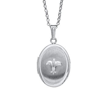 Fleur De Lis Locket in Sterling Silver
