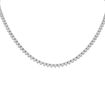 11ct tw NewBorn Lab Created Diamond Tennis Necklace in 14K White Gold