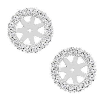 5/8ct tw NewBorn Lab Created Diamond Earring Jackets in 14K White Gold