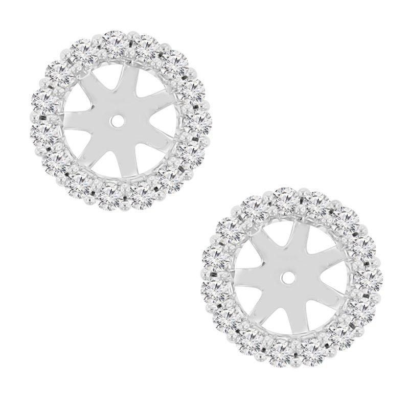 5/8ct tw NewBorn Lab Created Diamond Earring Jackets in 14K White Gold