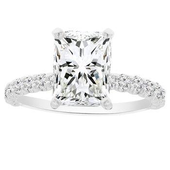 3 1/8ct tw NewBorn Lab Created Diamond Engagement Ring in 14K White Gold
