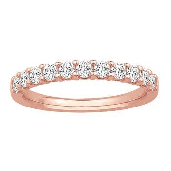 1/10ct tw Diamond Anniversary Ring in 10K Rose Gold