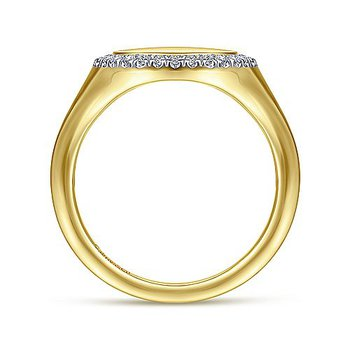 1/8ct tw Diamond Pinky Ring in 14K Yellow Gold