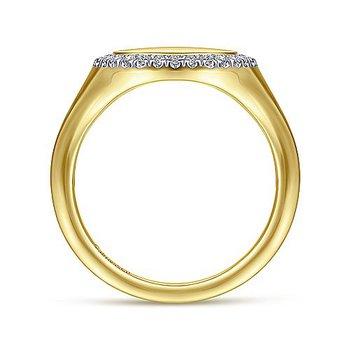1/8ct tw Diamond Pinky Ring in 14K Yellow Gold