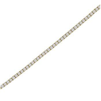 3ct tw NewBorn Lab Created Diamond Tennis Bracelet in 14K Yellow Gold
