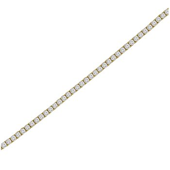 3ct tw NewBorn Lab Created Diamond Tennis Bracelet in 14K Yellow Gold