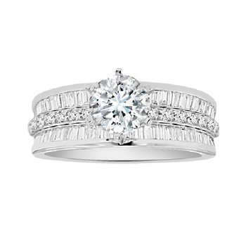 1 1/8ct tw Diamond Engagement Ring Setting in 14K White Gold
