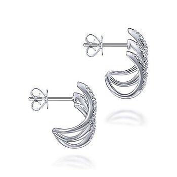 1/2ct tw Diamond Fashion Earrings in 14K White Gold