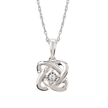 .02ct tw Diamond Fashion Necklace in Sterling Silver