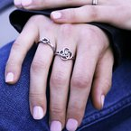 .01ct tw Diamond Circle Knot Ring in Sterling Silver