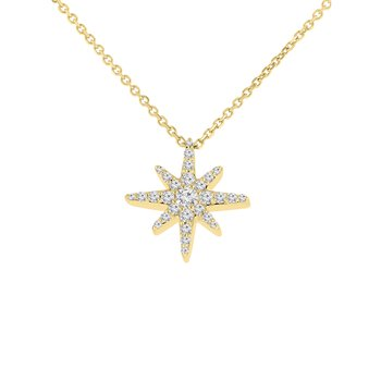 1/4ct tw Diamond Celestial Necklace in 10K Yellow Gold