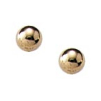 3mm Ball Earrings in 14K Yellow Gold