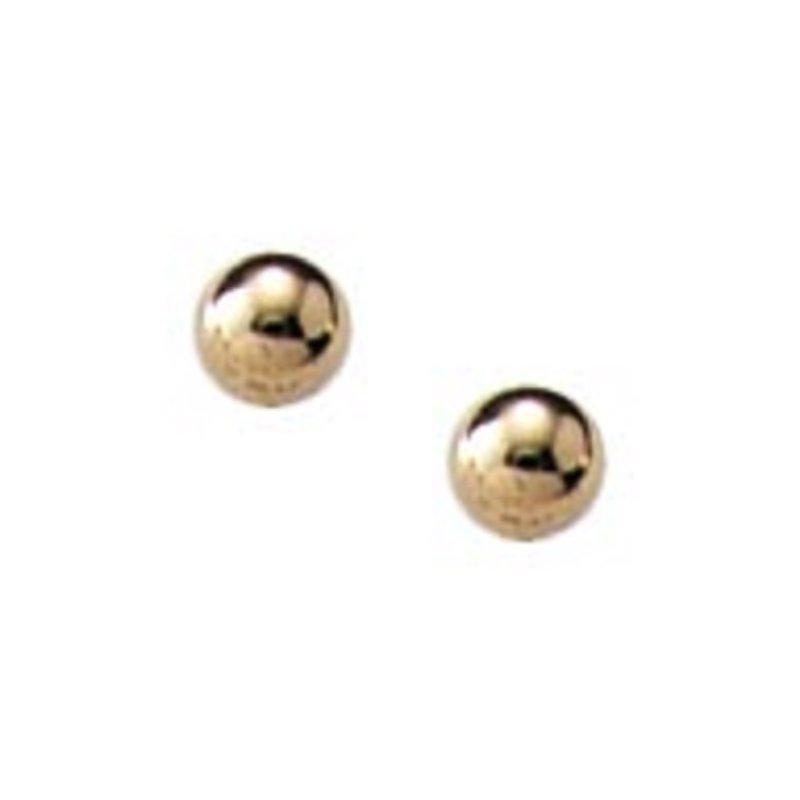 3mm Ball Earrings in 14K Yellow Gold