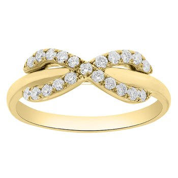 1/3ct tw Diamond Infinity Fashion Ring in 14K Yellow Gold