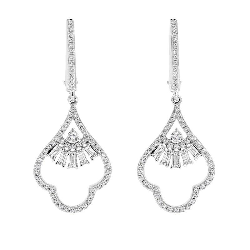 3/4ct tw Diamond Fashion Dangle Earrings in 14K White Gold