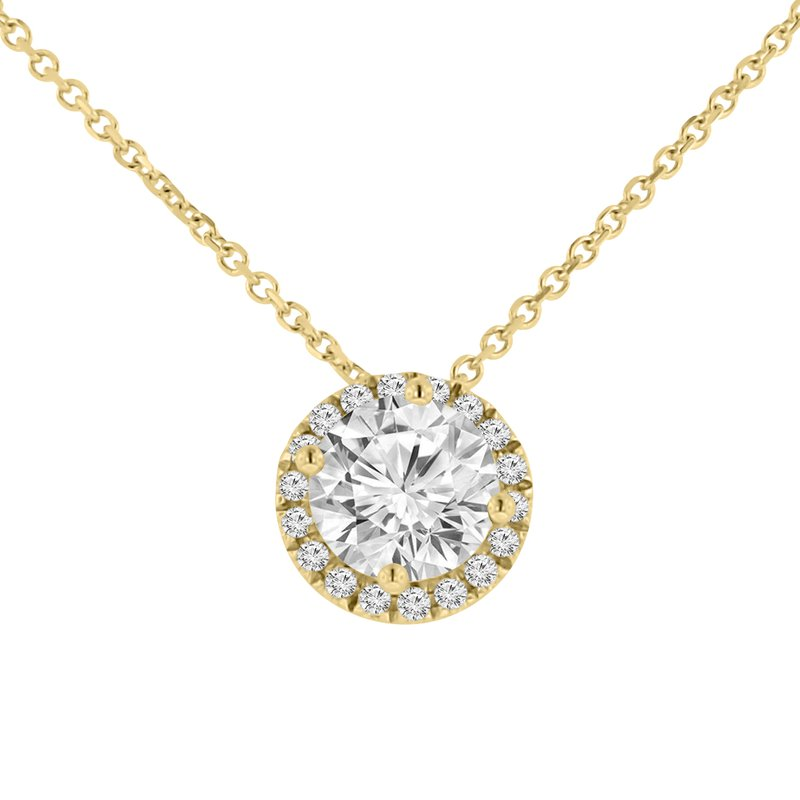 1ct tw Diamond Simply Love Collection Necklace in 14K Yellow Gold