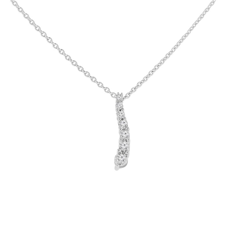 1/10ct tw Diamond Journey Necklace in Sterling Silver