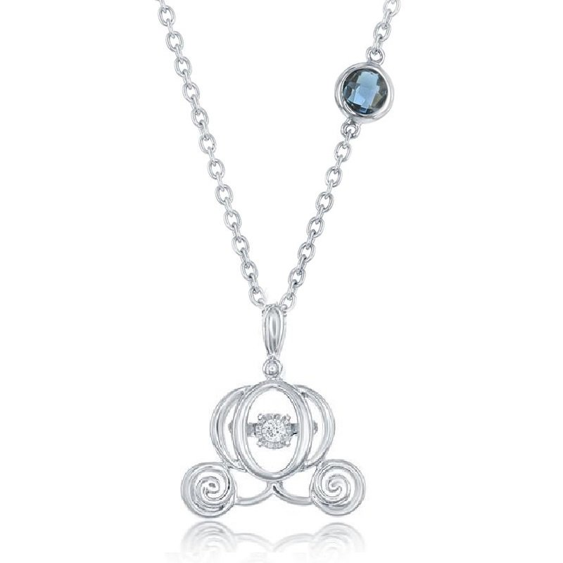 .03ct tw Diamond Cinderella Necklace in Sterling Silver