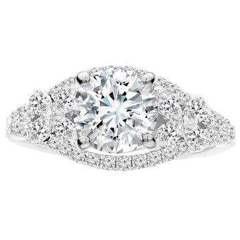 3/4ct tw Diamond Engagment Ring Setting in 14K White Gold