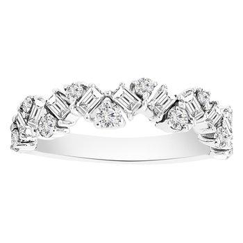 5/8ct tw Diamond Fashion Ring in 14K White Gold