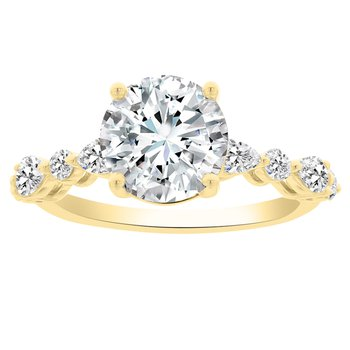 1/2ct tw NewBorn Lab Created Diamond Engagement Ring Setting in 14K Yellow Gold