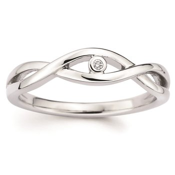 .01ct tw Diamond Ring in Sterling Silver