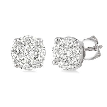 1/4ct tw Diamond Thousand Points of Light Stud Earrings in 14K White Gold