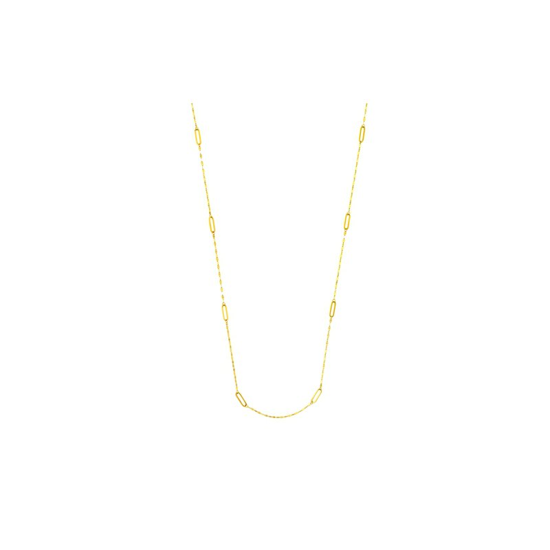 36 Inch Station Chain in 14K Yellow Gold
